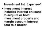 investment int expense 1