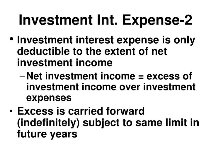 Investment Int. Expense-2