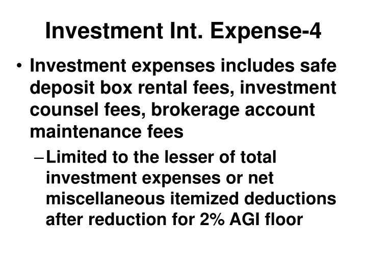 Investment Int. Expense-4