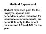 medical expenses 1