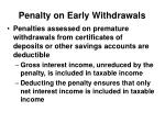 penalty on early withdrawals