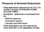 phaseout of itemized deductions