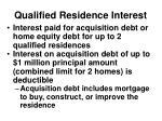 qualified residence interest