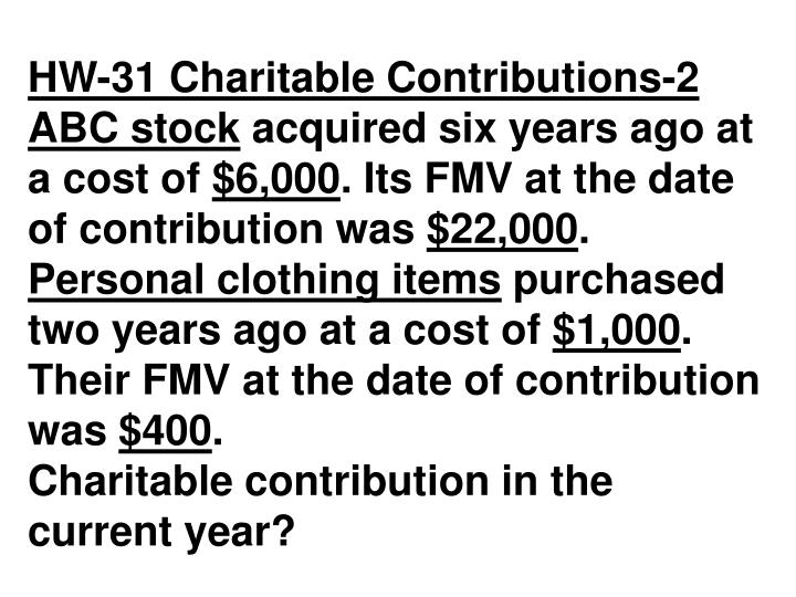 HW-31 Charitable Contributions-2