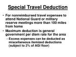 special travel deduction