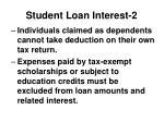 student loan interest 21