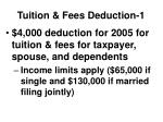tuition fees deduction 1
