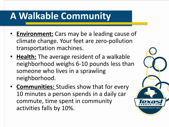 A Walkable Community