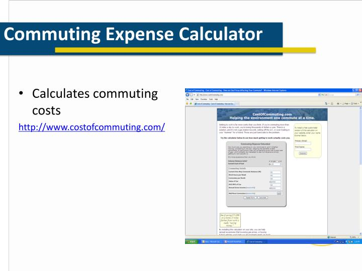 Commuting Expense Calculator