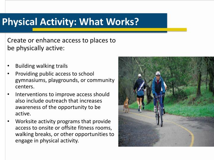 Physical Activity: What Works?