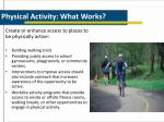 physical activity what works