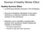 sources of healthy worker effect2