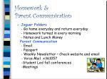 homework parent communication