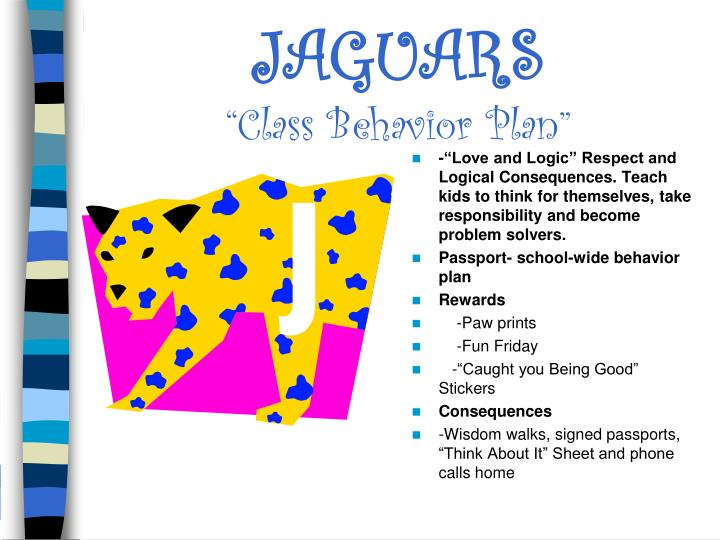 Jaguars class behavior plan