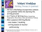 writer s workshop writing process grammar