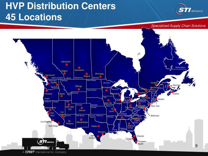 HVP Distribution Centers