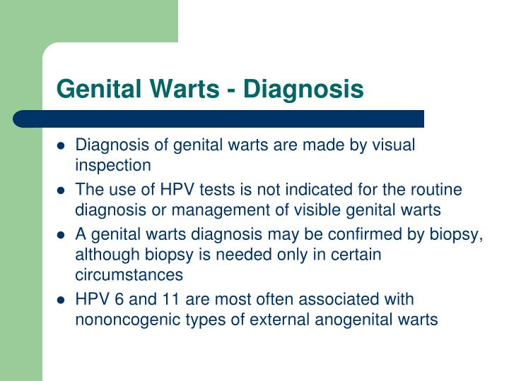 Genital Warts - Diagnosis