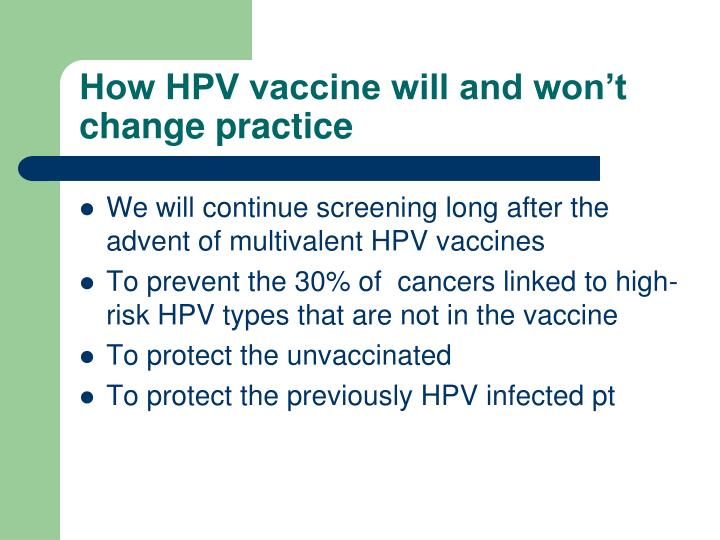 How HPV vaccine will and won't change practice