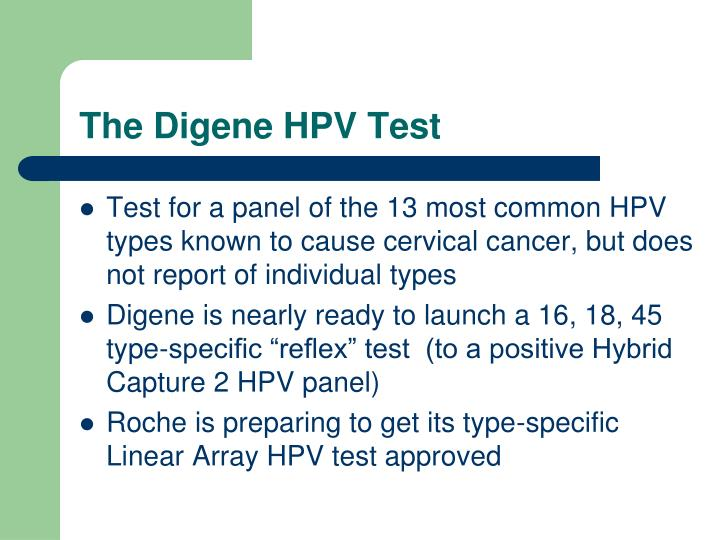 The Digene HPV Test
