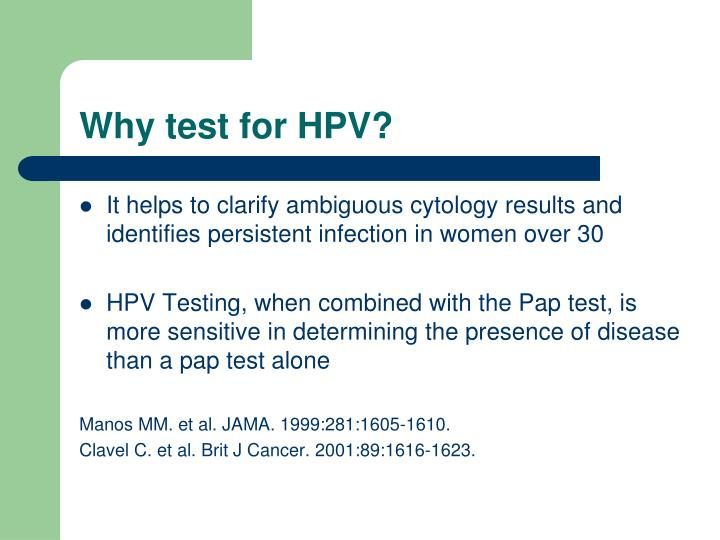 Why test for HPV?