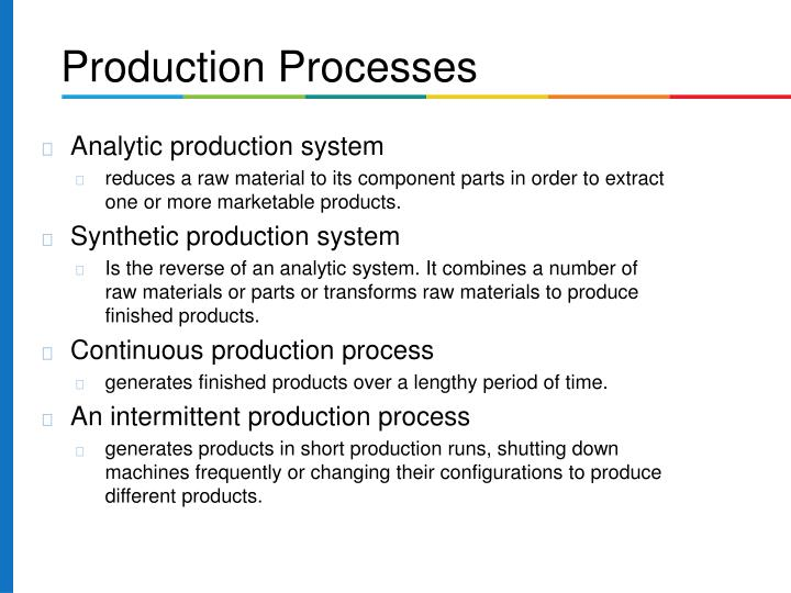 Analytic production system