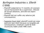 burlington industries v ellerth 1998