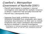 crawford v metropolitan government of nashville 2001