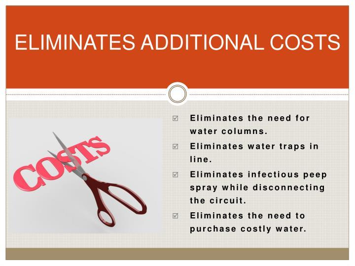 ELIMINATES ADDITIONAL COSTS