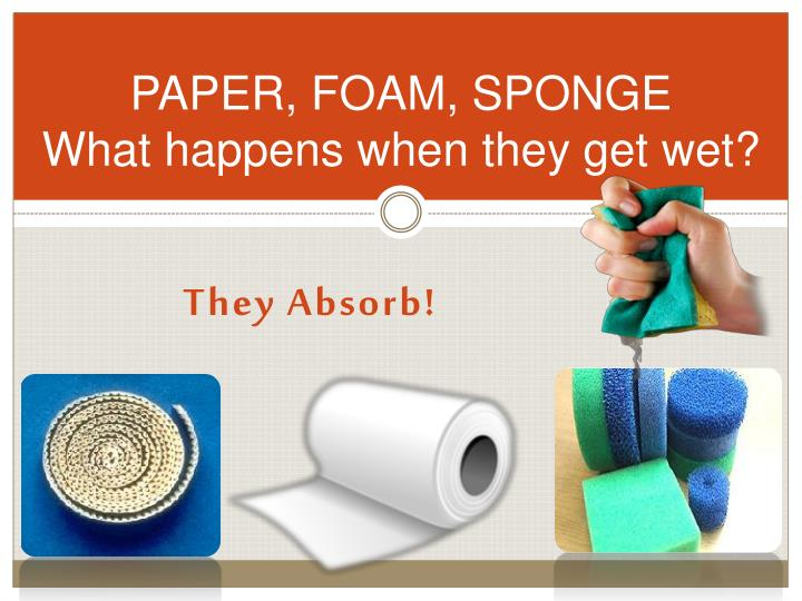 PAPER, FOAM, SPONGE
