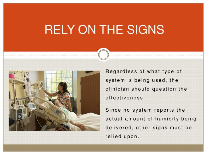 RELY ON THE SIGNS