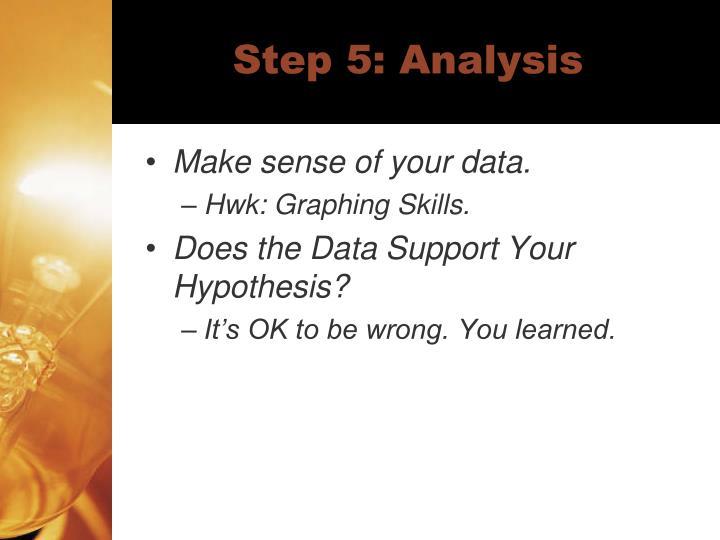 Step 5: Analysis