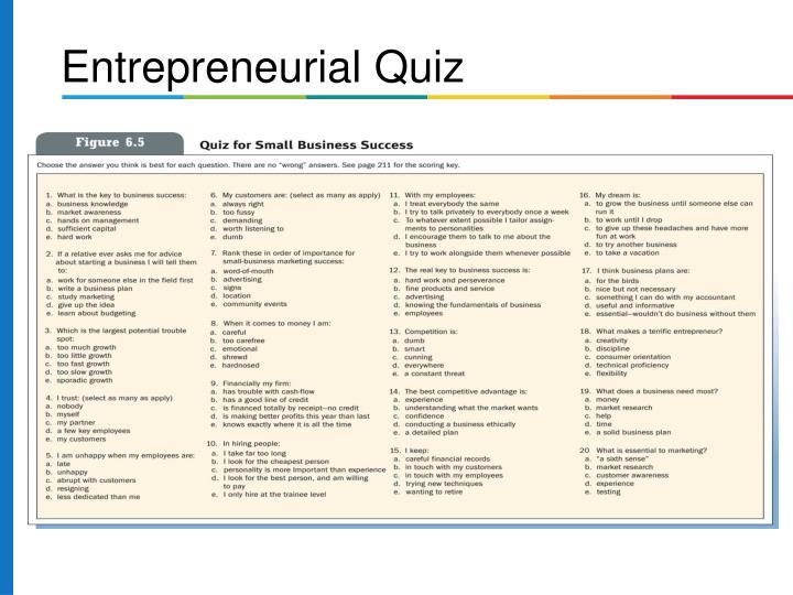 Entrepreneurial Quiz
