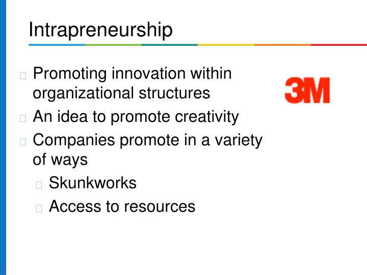 Promoting innovation within organizational structures
