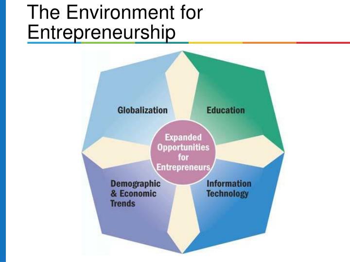 The Environment for Entrepreneurship