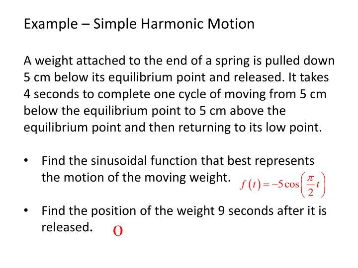 Example – Simple Harmonic Motion