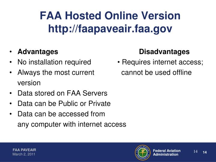 FAA Hosted Online Version  http://faapaveair.faa.gov