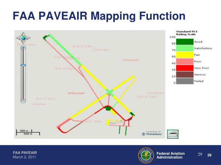 FAA PAVEAIR Mapping Function