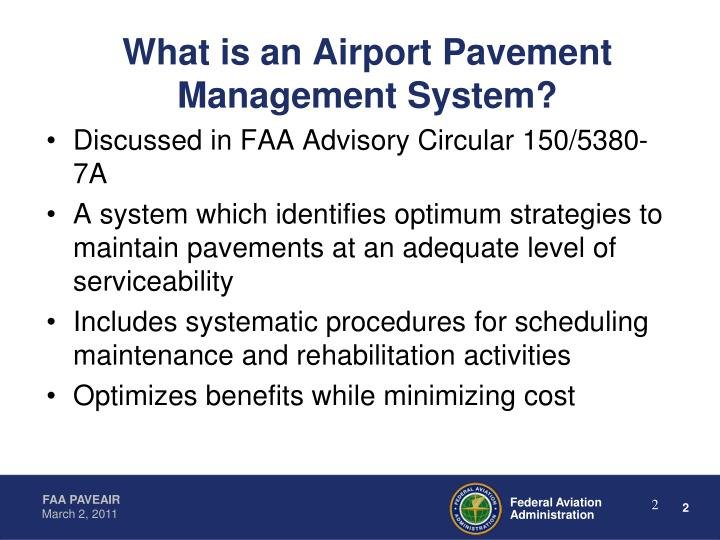What is an Airport Pavement Management System?