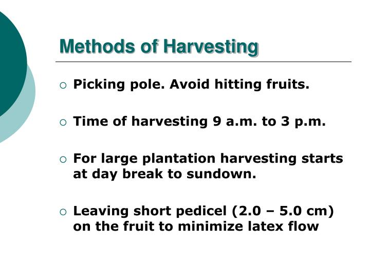 Methods of Harvesting