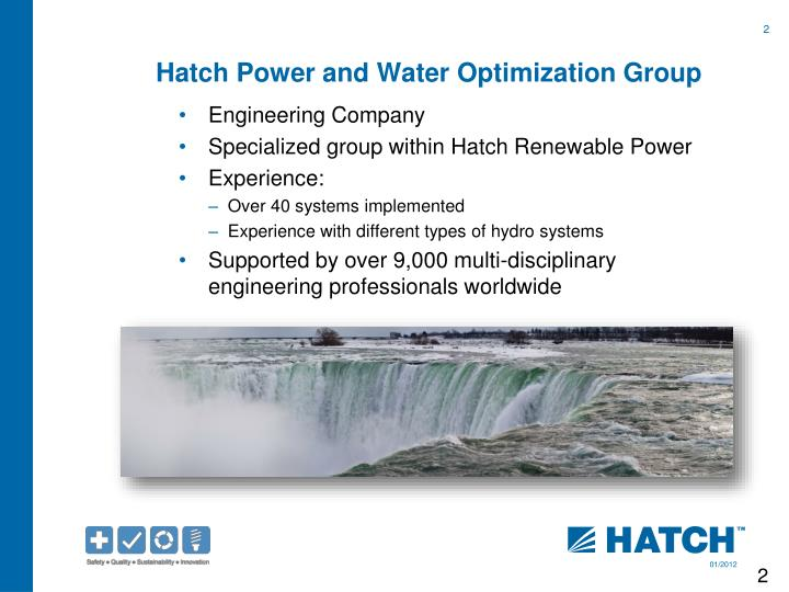 Hatch Power and Water Optimization Group