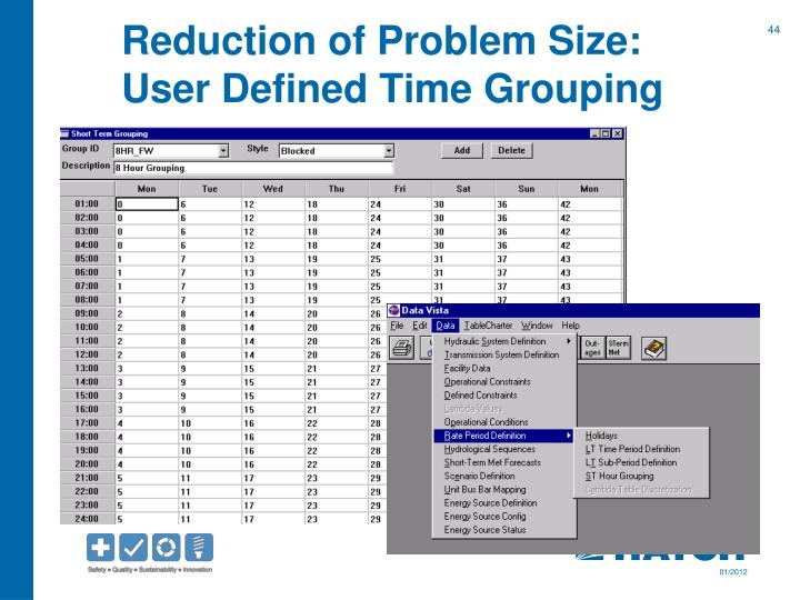 Reduction of Problem Size: User Defined Time