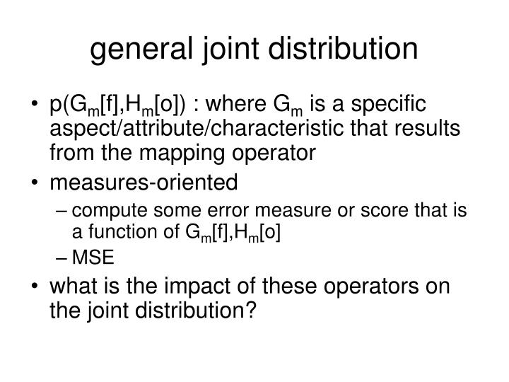 general joint distribution
