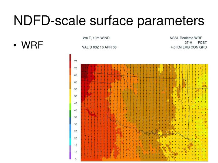 NDFD-scale surface parameters