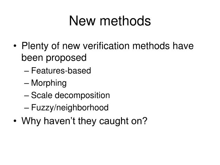 New methods