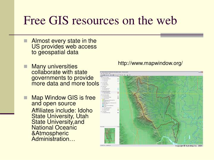 Free GIS resources on the web