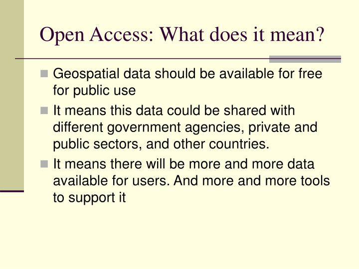 Open access what does it mean