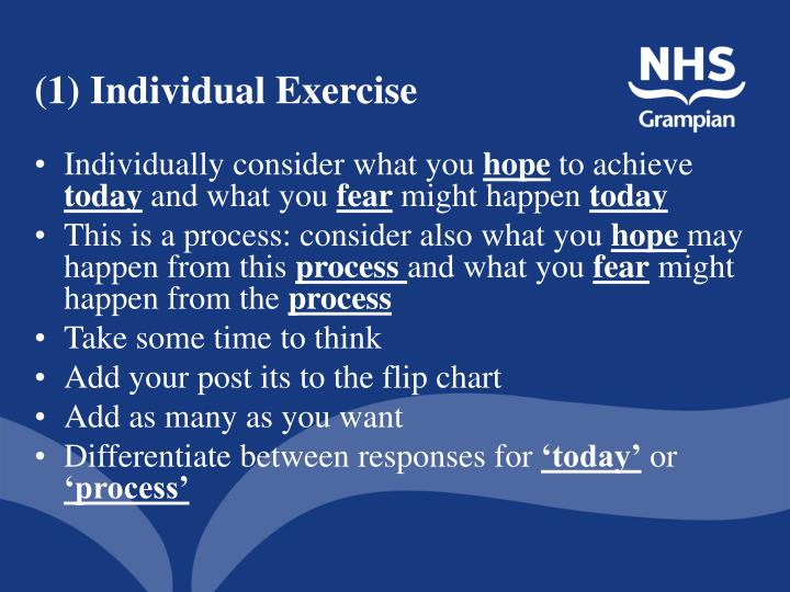 (1) Individual Exercise