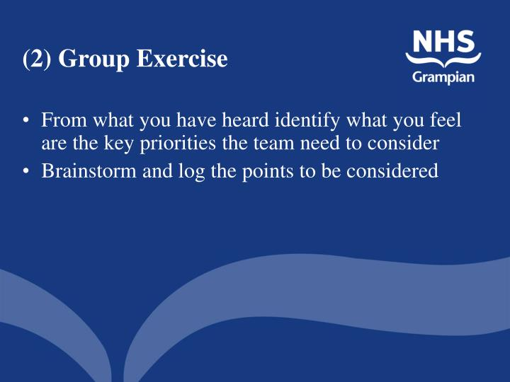 (2) Group Exercise