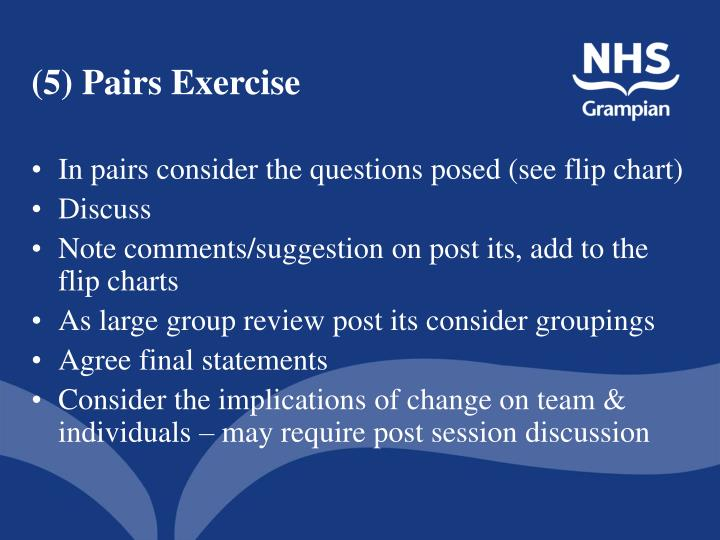 (5) Pairs Exercise
