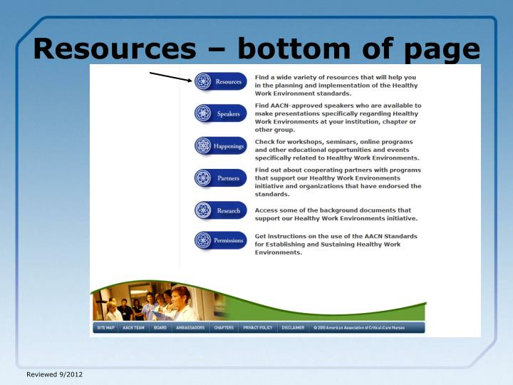 Resources – bottom of page